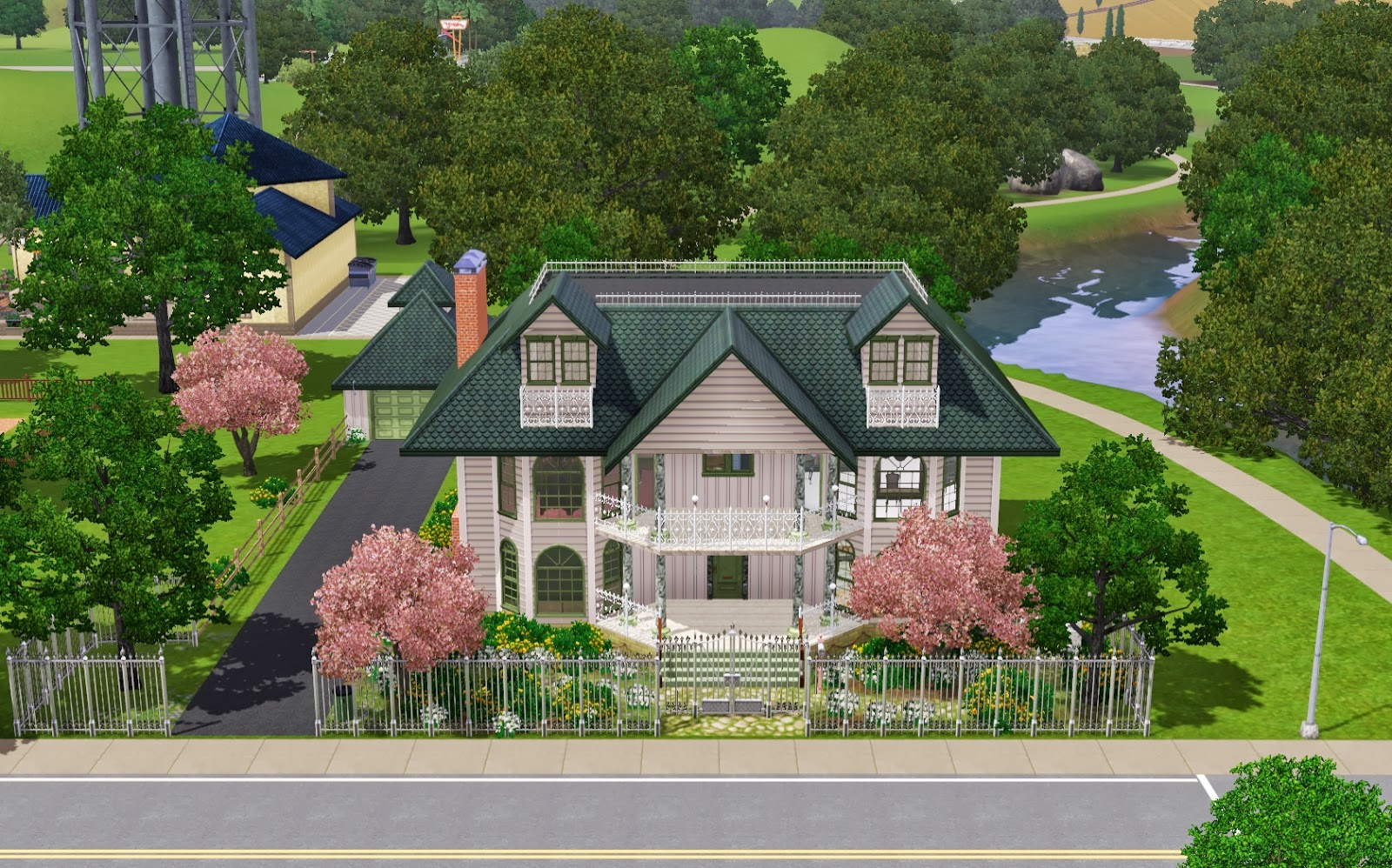 Summer 39 S Little Sims 3 Garden Riverview List Of Houses
