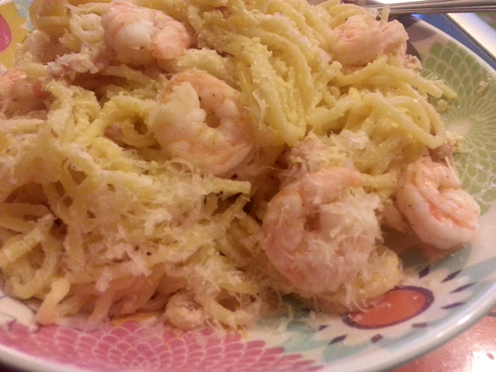 shrimp and some no cream in pasta carbonara basil shrimp photo shrimp ...