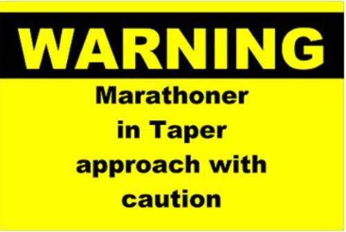 Marathon taper meme