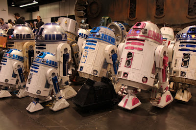 Lego R2-D2 and Mouse Droids with Steampunk and R2-KT and many other droids.