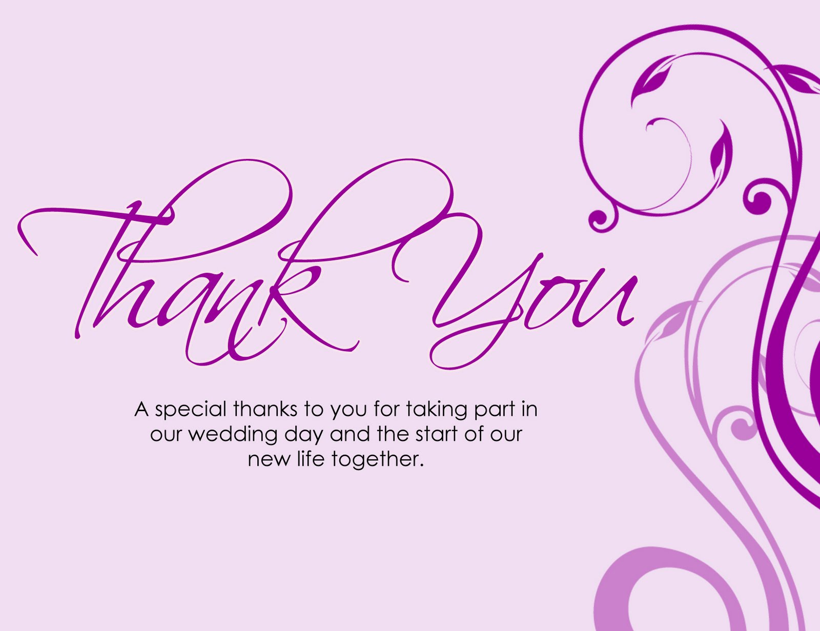 thanks card words – Thank You Note Sample