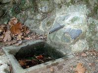 Detall de la canyella i la pica de la Font del Mal Pas