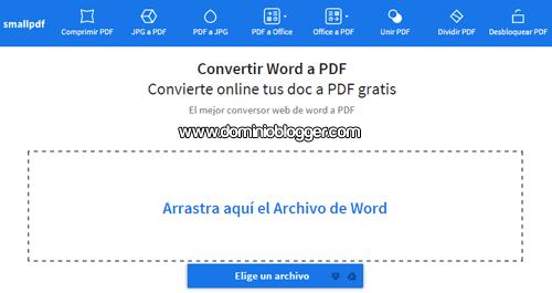 Convierte archivos Word a PDF con Smallpdf