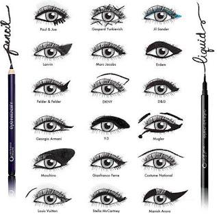 como delinear os olhos