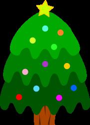 Arbol de navidad dibujo color