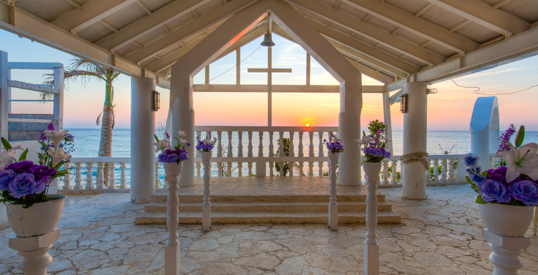 The Cute Little Outdoor Wedding Chapel Down Road