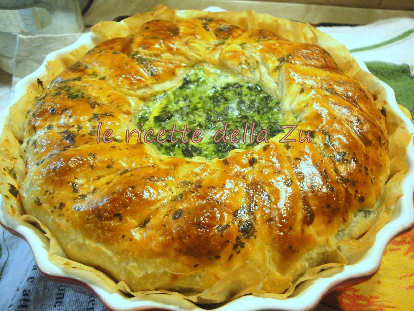 Le ricette della zu torta salata di sfoglia con spinaci for Torte salate con pasta sfoglia