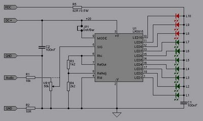 vu meter 10 led circuit schematic diagram wiring diagram vu meter 10 led circuit schematic diagram