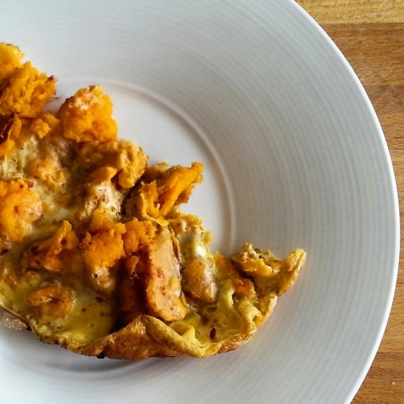 Fritatta A La Patate Douce Et Piment