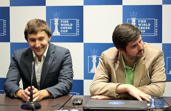 Sergey Karjakin remporte la Coupe du Monde d'échecs 2015 au départage sur le score final de 6 points à 4 - Photo © site officiel - Photo © site officiel