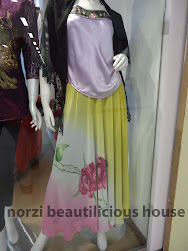 NMA05 Flowery Soft Chiffon Skirt with Lining