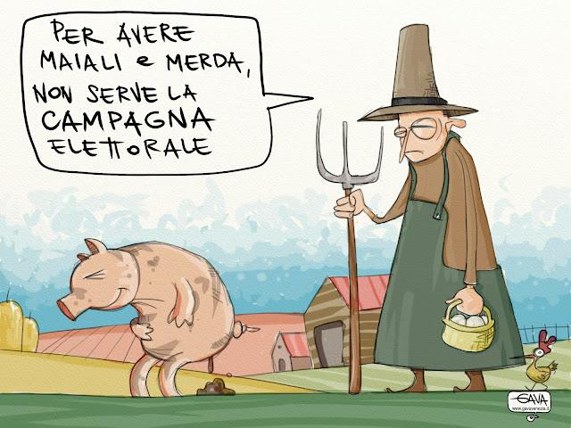 Gava Satira Vignette campagna elettorale