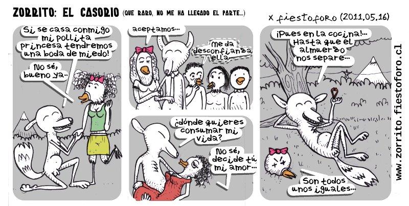 Caricatura del zorrito culpeo