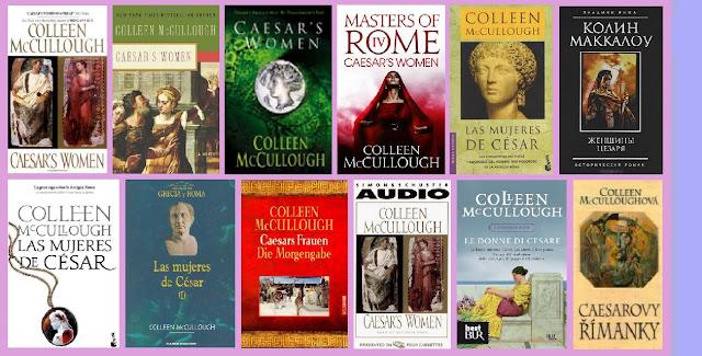 Collage de portadas de Las mujeres de César