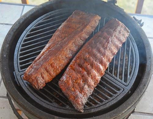BGE ribs, kamado joe ribs, primo ribs, grill dome ribs