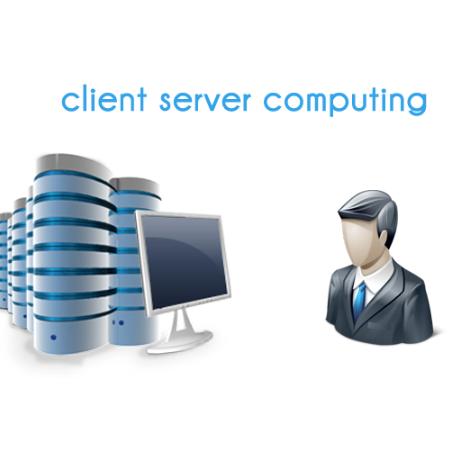 client server computing Client-server computing is divided into three components, a client process requesting service and a server process providing the requested service, with a middleware in between them for their interaction.
