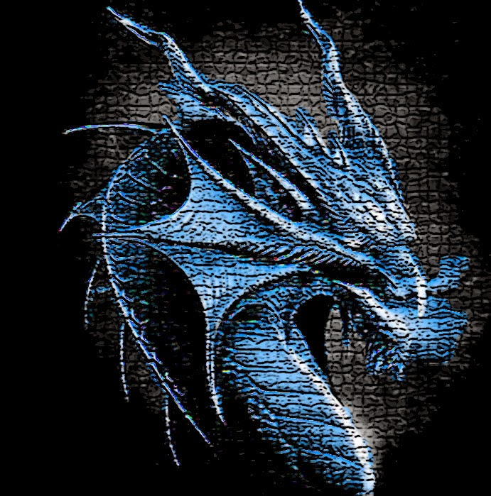 Glowing dragon Art Wallpaper