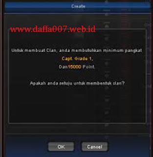 Susunan Urutan Pangkat atau Grade Clan PB Garena Indonesia dan Jumlah Exp tiap Grade