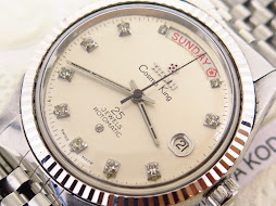 TITONI COSMO KING DAY DATE PRESIDENT SILVER DIAL - AMERICAN DIAMOND INDEX - ROTOMATIC CAL. 2834-2