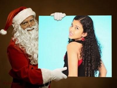 Montagem foto de Papai Noel