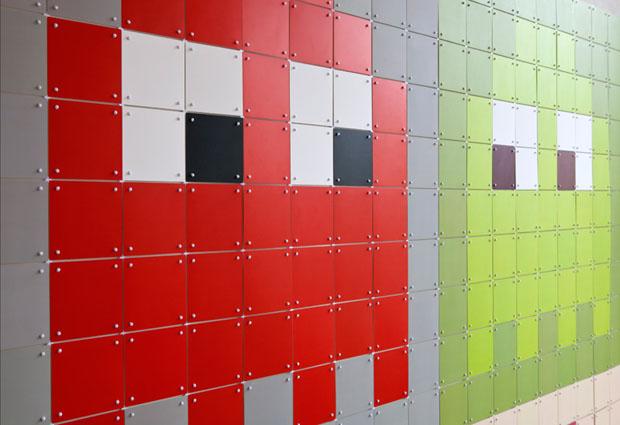 IXXI,Decorancion, paredes, wall,art,synaps,cuadrados,cuadros,squares,tile,comecocos,pacman