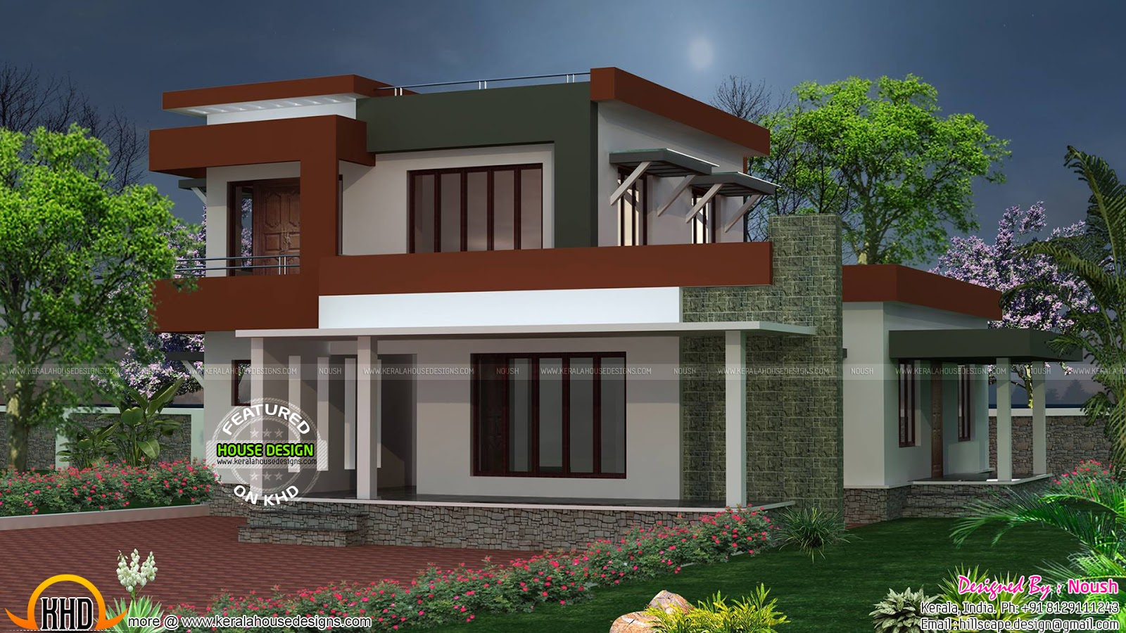 2250 sq ft box type house plan kerala home design and for Types of house plans