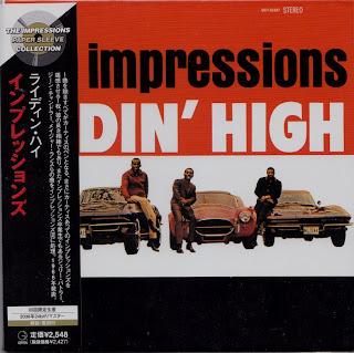 THE IMPRESSIONS - RIDIN\' HIGH (ABC-PARAMOUNT 1966) Jap mastering cardboard sleeve