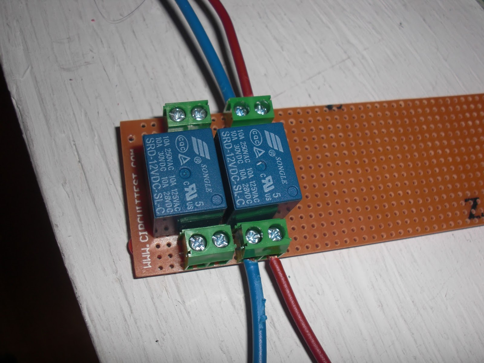 My Knight Rider 2000 Project Mini Relays Board For Space Matt Buttons Songle Spdt Relay Srd 12v I Started Soldering Songo To The Piece Of Proto Had Yesterday It Was A Bit Pain Get