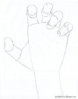 draw hand step by step