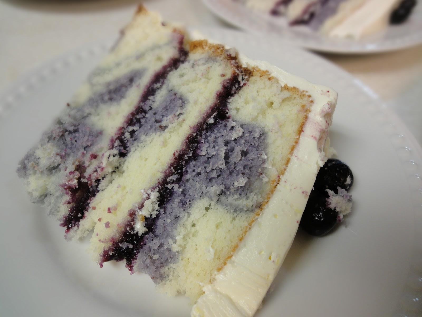 Blog as you Bake: Lemon Blueberry Marble Cake