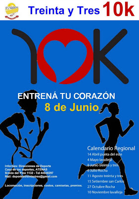 10 kms Treinta y tres (08/jun/2013)