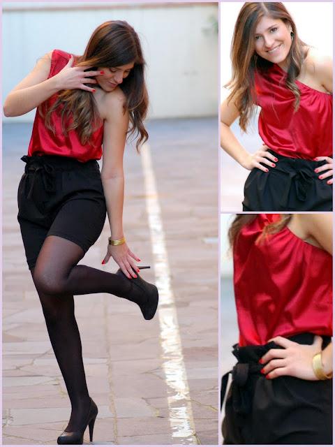 Blusas de Cetim  vermelha
