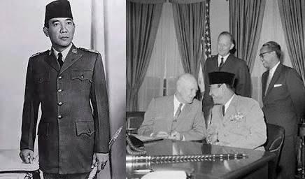gambar misteri tongkat bung karno, Soekarno, Presiden RI pertama kali