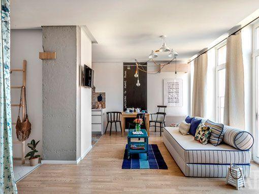 Marzua un piso luminoso y funcional en 40 metros for Decorar piso 80 metros