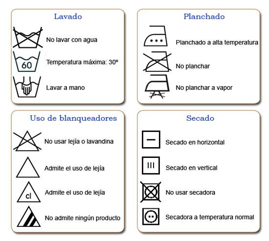 Etiquetas lavado