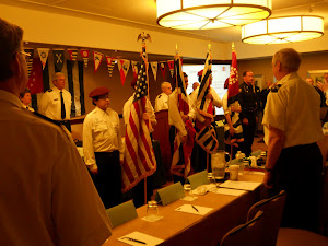 Sea Scouts present the colors at the USPS District meeting.