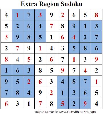 Extra Region Sudoku (Daily Sudoku League #149) Solution