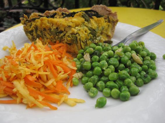 Pois verts à l'ail et à l'huile d'olive — VeganMoFo I