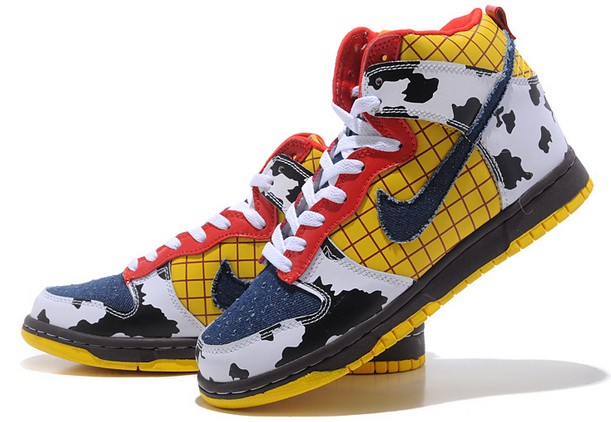 woody nike dunk high tops toy story shoes. nikes toy story hi men shoes  cheap