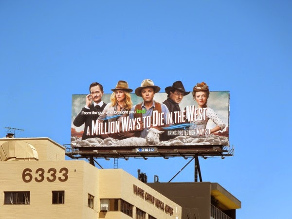 Million Ways to Die in the West billboard