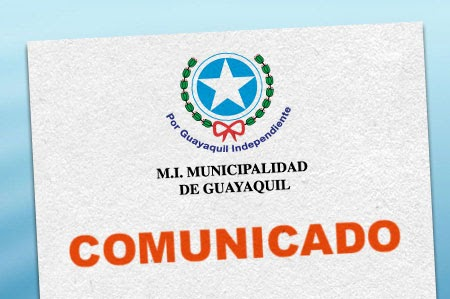 Blog comunicado for Municipio de guayaquil mi lote 3