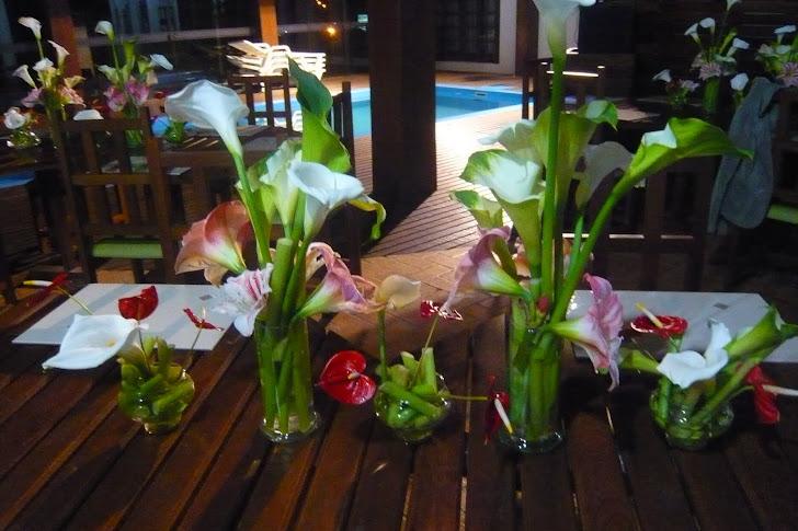 Ikebanas para mesa em Evento SC- Guaramirim.