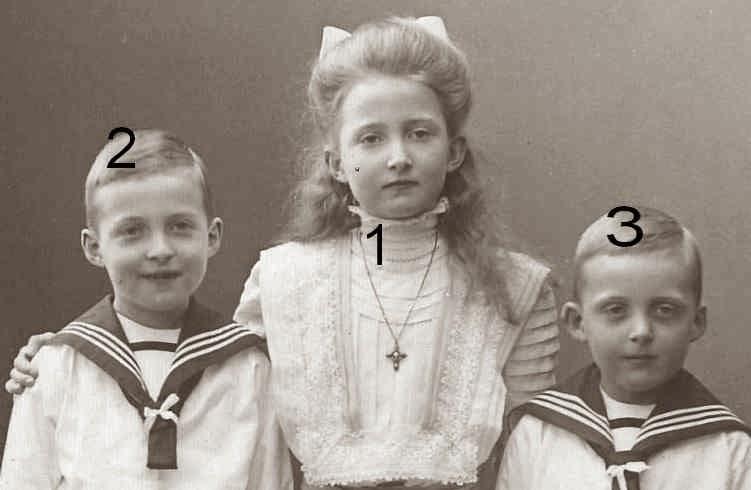 Marie Auguste, Joachim Ernst et Eugen von Anhalt