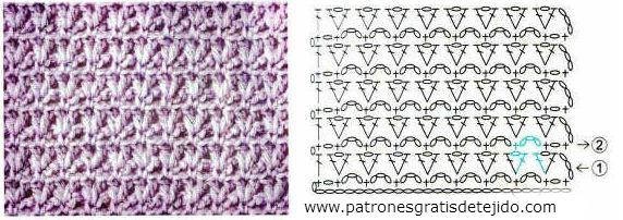 Puntada Crochet Gratis Patrón #24