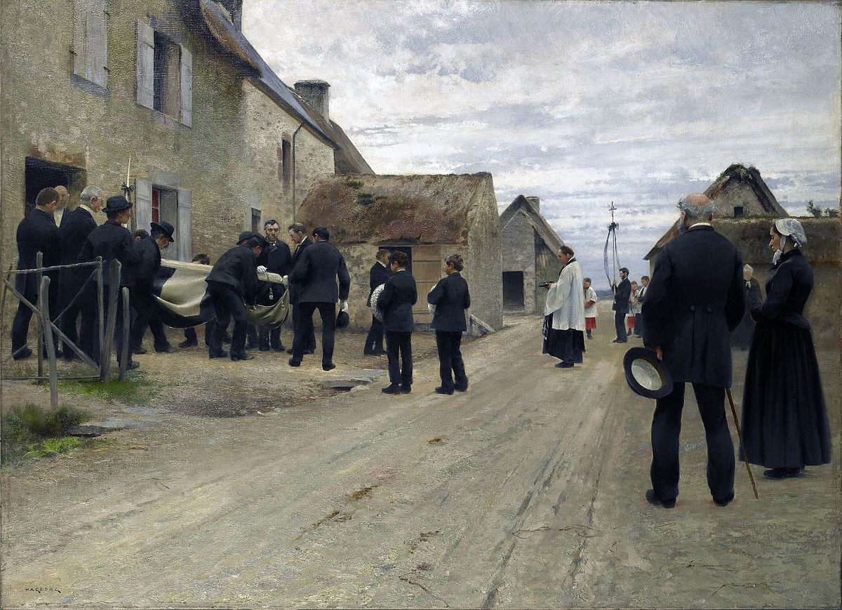 August Hagborg  urial of a Sailor in a Manche Village