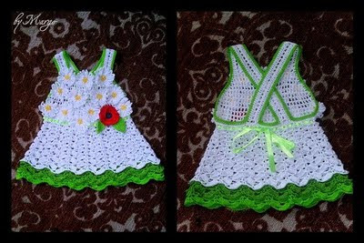 Вязаное платье для девочки 2-3-х лет