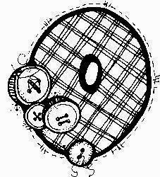desenho de alfabeto de tecido e botoes para pintar letra O