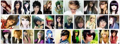 model gaya rambut emo pendek dan panjang pria dan wanita 4