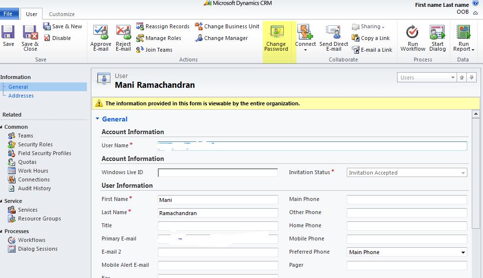 cRm Musings: Active Directory password reset via CRM 2011