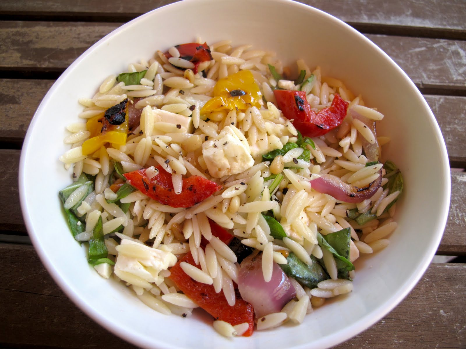 Orzo+Salad Greek Orzo Salad with Grilled Vegetables